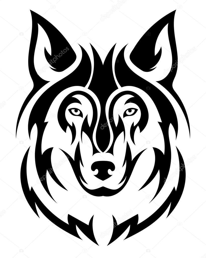 Vector Lobo Tatuaje De Lobo Hermoso Cabeza De Lobo Del Vector
