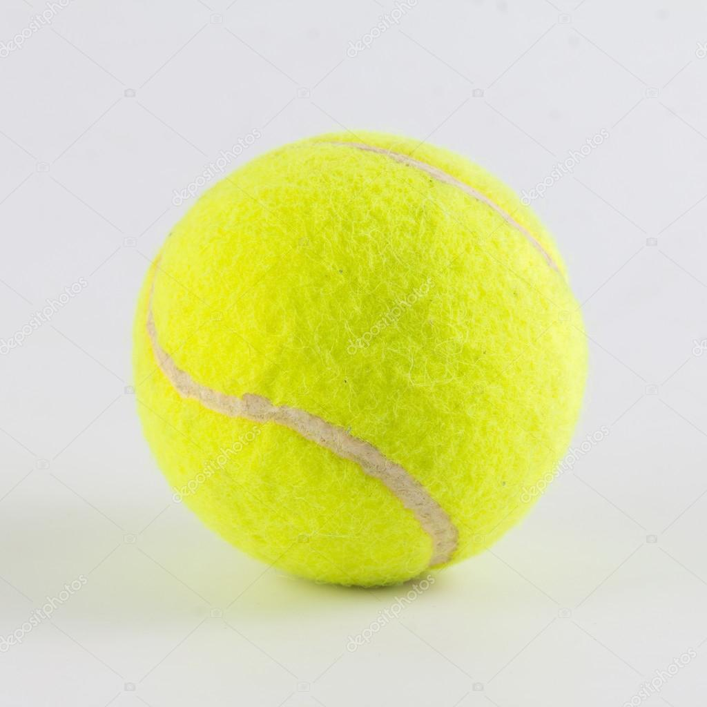 4f0986242cccb Balle de tennis unique isolé sur fond blanc– images de stock libres de  droits