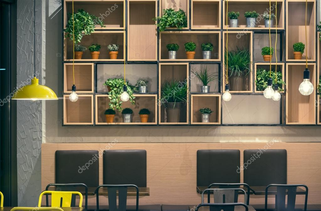 Cafe Interior Wall Design