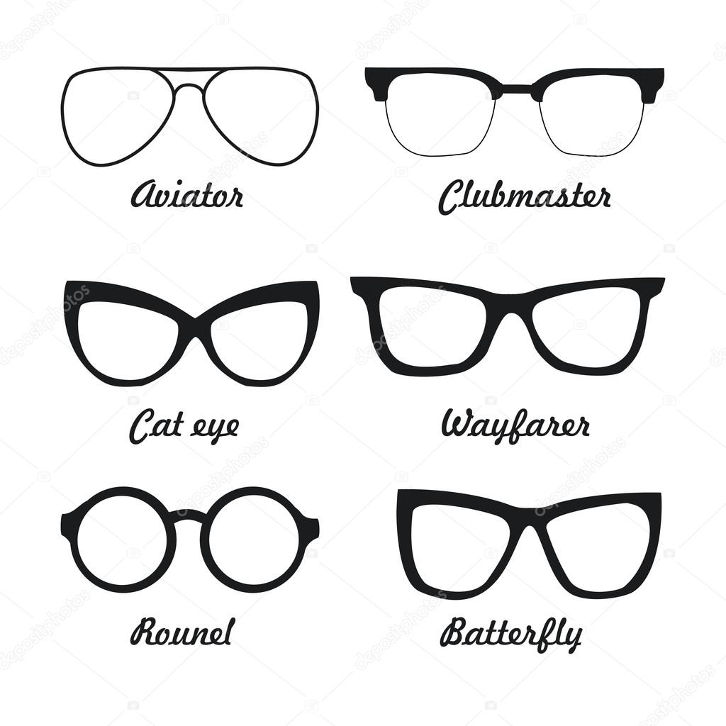 Großes Set Arten von Sonnenbrillen — Stockvektor © Kutanina