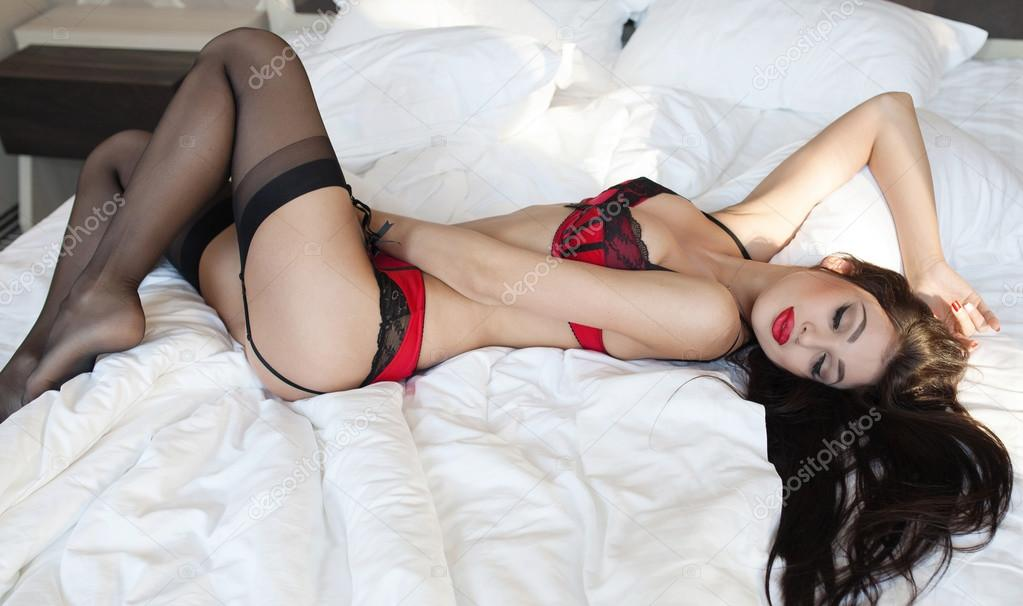 Fashion Shoot Of Young Sexy Woman In Lingerie Stock Vporn 1