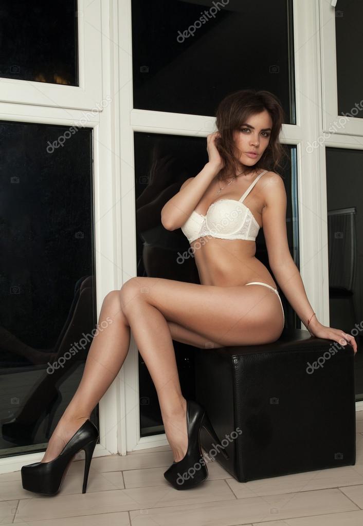 Something hot brunette white lingerie opinion
