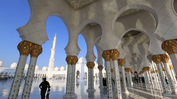 Idő telik el Sheikh Zayed nagy mecset Abu Dzabi Egyesült Arab Emírségek
