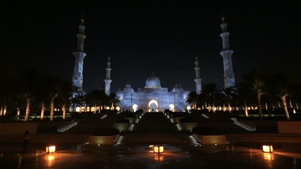 Sheikh Zayed nagy mecset Abu Dzabi Egyesült Arab Emírségek, éjszakai