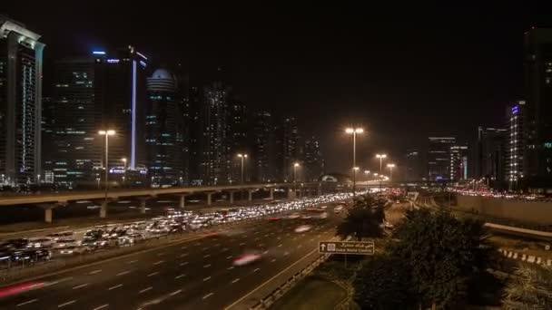 Traffic jam on the Sheikh Zayed Road in Dubai