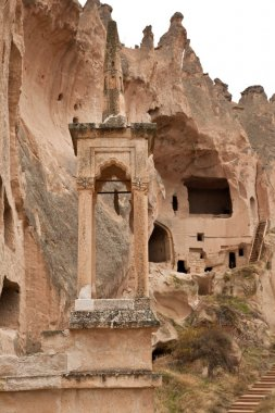 Cave Mosque Famous city  Cappadocia in Turkey