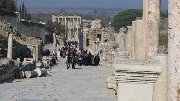 sloupce ulice ruiny starověkého Efesu