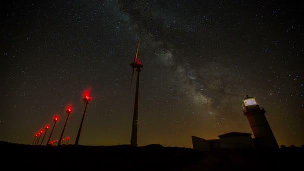 Windkraftanlage mit Milchstraße 4