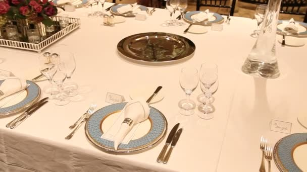 Elegant dinner table setting 9 HD 1080p — Stock Video © DeReGe #75038521