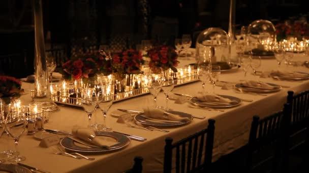 Elegant dinner table setting 8 HD 1080p u2014 Stock Video & Elegant dinner table setting 8 HD 1080p u2014 Stock Video © DeReGe #75039319