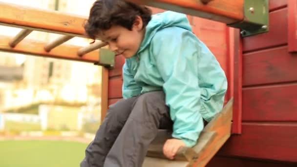 little boy playing a park 1