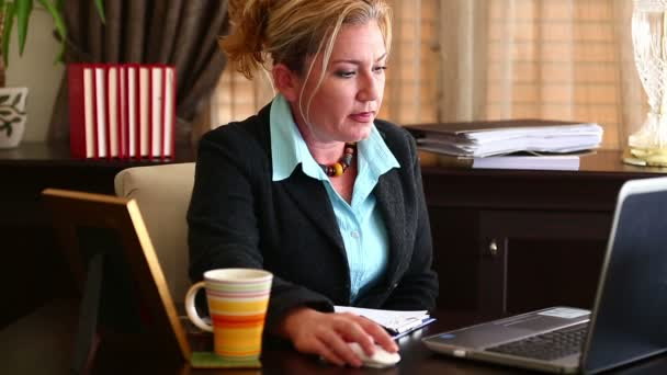 Middle Age Business Woman Working