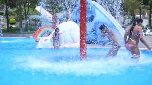 Child having fun at the pool