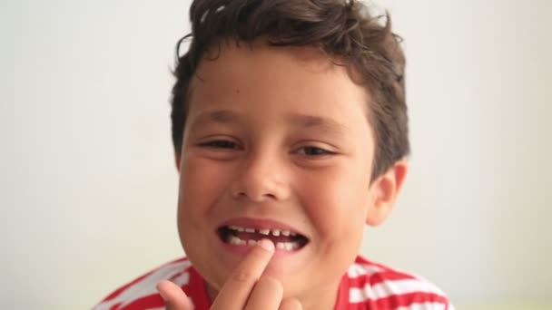 Child showing missing teeth