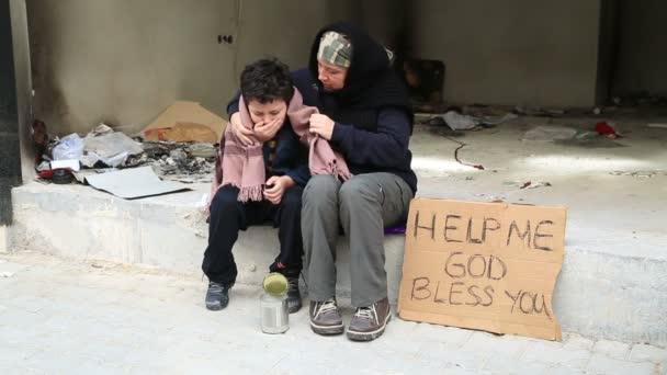 Bezdomovec nemocné dítě