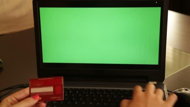 On-line nakupování chroma klíč přenosný počítač