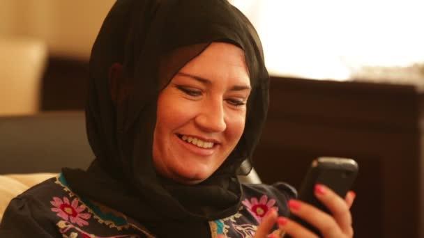 Muslimská žena textovou zprávu 2