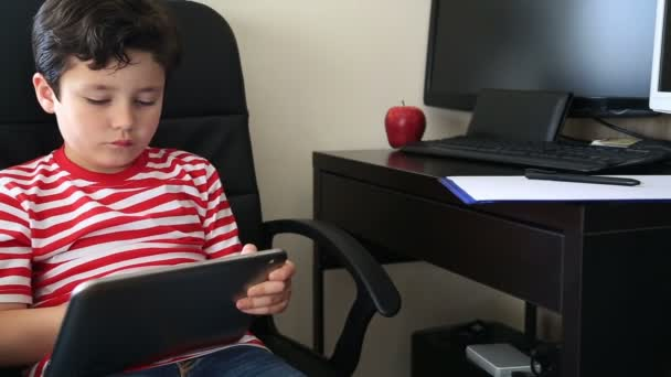 little boy with digital tablet 2