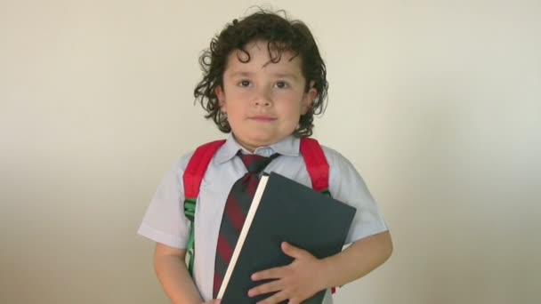 Portrait of a little student