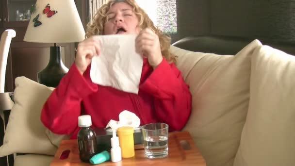 Nemocné ženy, kýchání