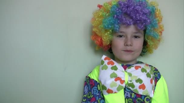 little clown eating jellybean