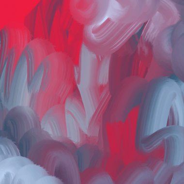 rough liquid oil smear texture in red and grey palette, hand-drawn vector abstract background