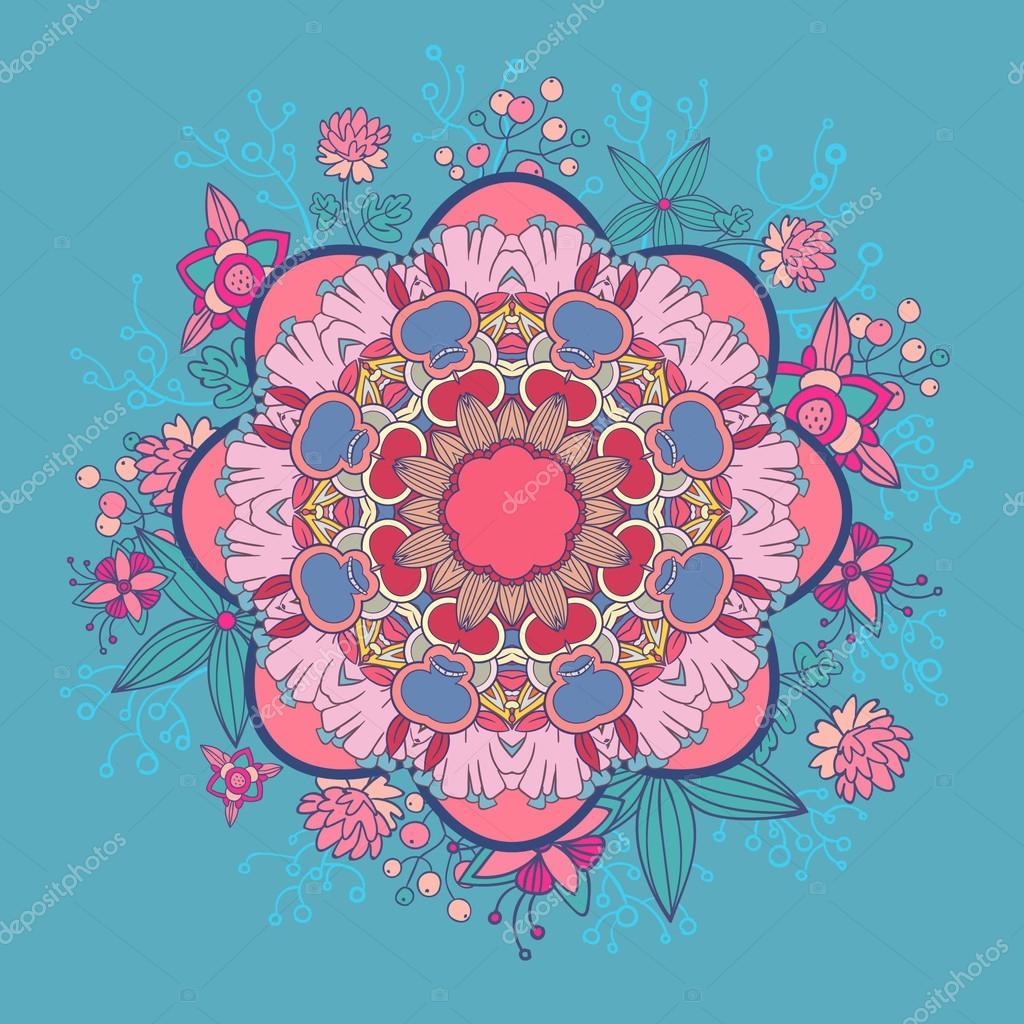 Mandala. Round Ornament illustration. Vintage decorative elements. Hand drawn background. Islam, Arabic, Indian