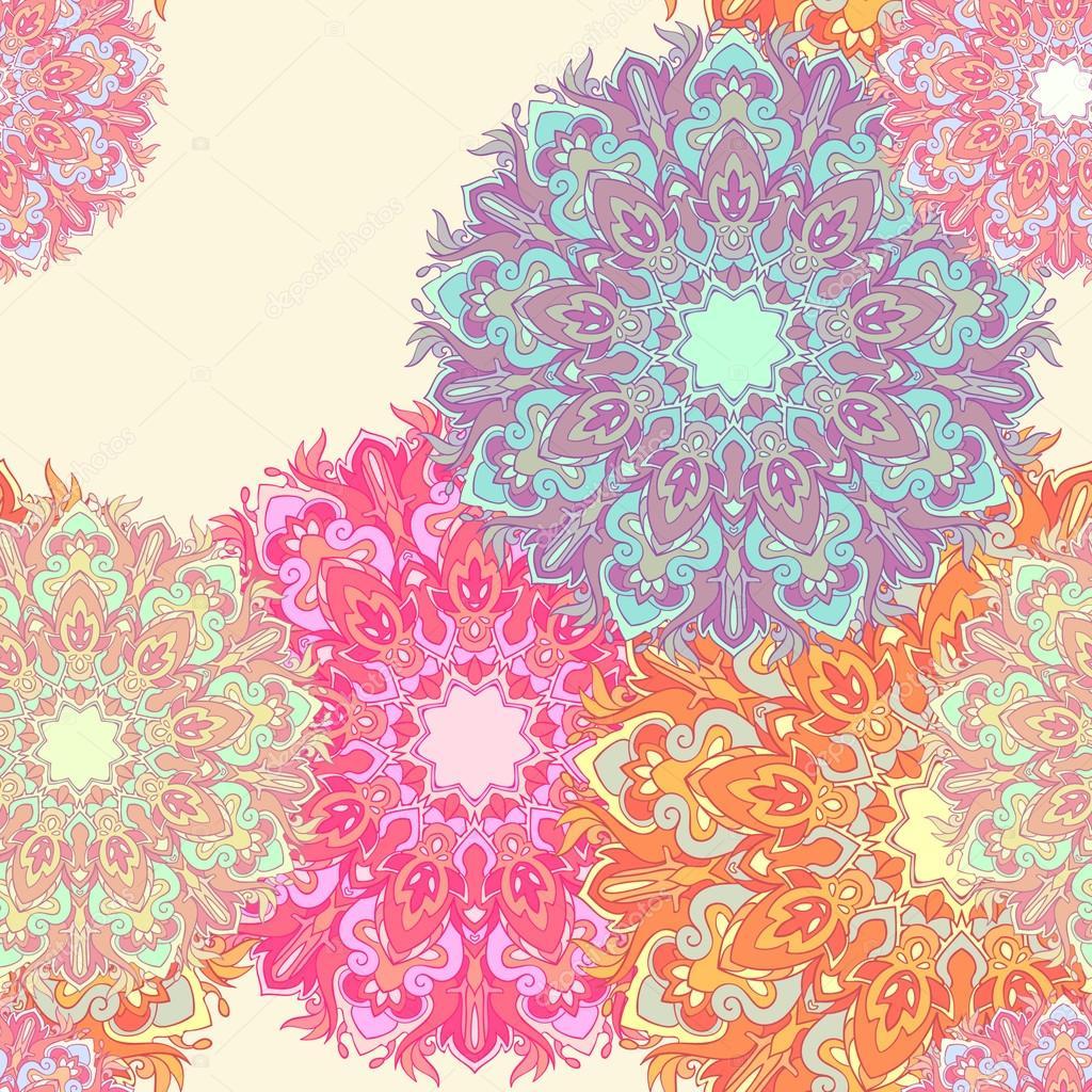 colorful mandala seamless background