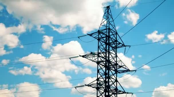 High voltage tower - Stock Footage