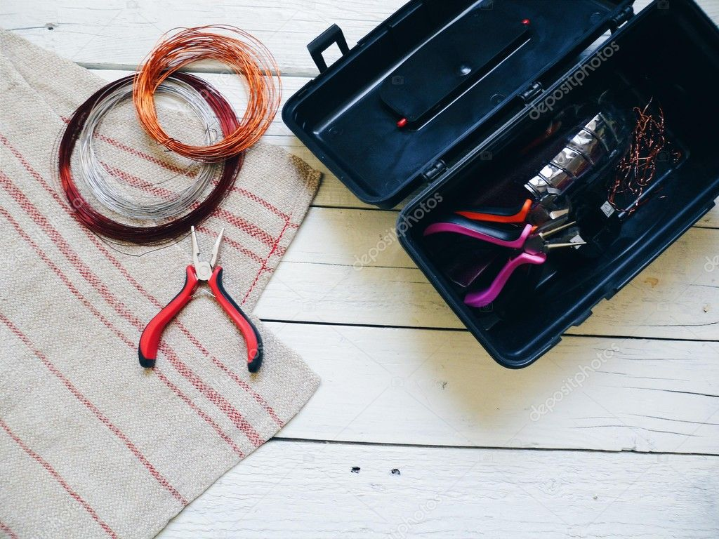 copper wire and tools on your desktop – Stock Editorial Photo ...