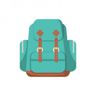 School backpack in a flat style.