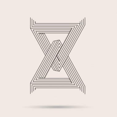 Abstract vector logo.Triangle line art logo made in black and white.Minimalistic logo. clip art vector
