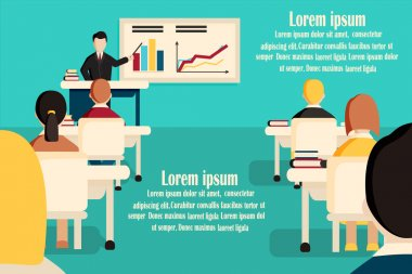 Education classroom vector banner.