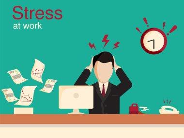 New job stress work infographic. Stress on work.