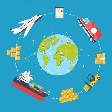 Logistics infographics concept vector illustration