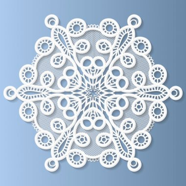 Decorative flower, snowflake, mandala, embossed pattern