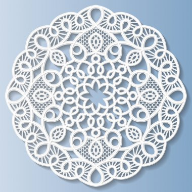 Decorative flower, snowflake, mandala, embossed pattern, lace pattern
