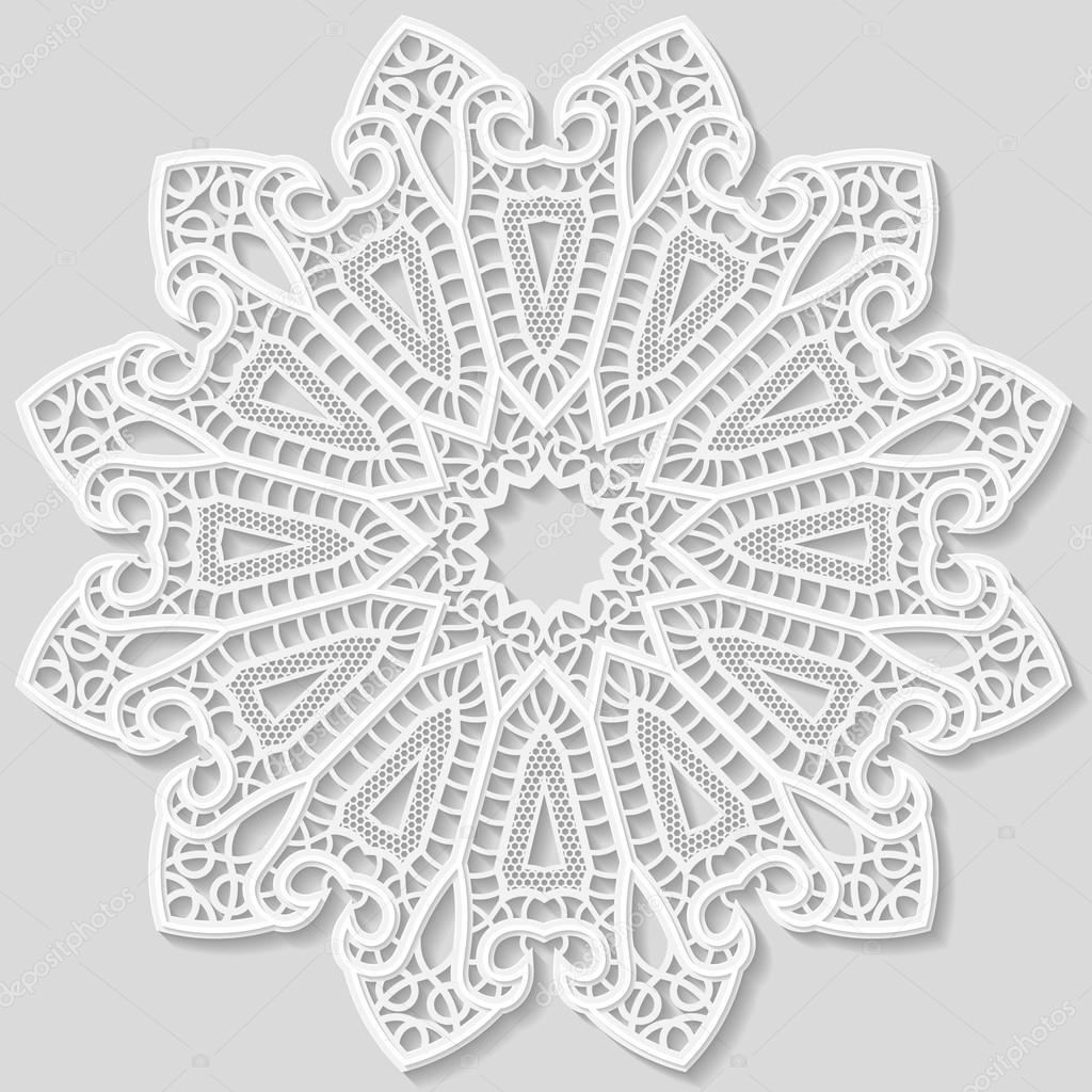 Graficos de encajes de ganchillo | Tapete de encaje de papel, flor ...