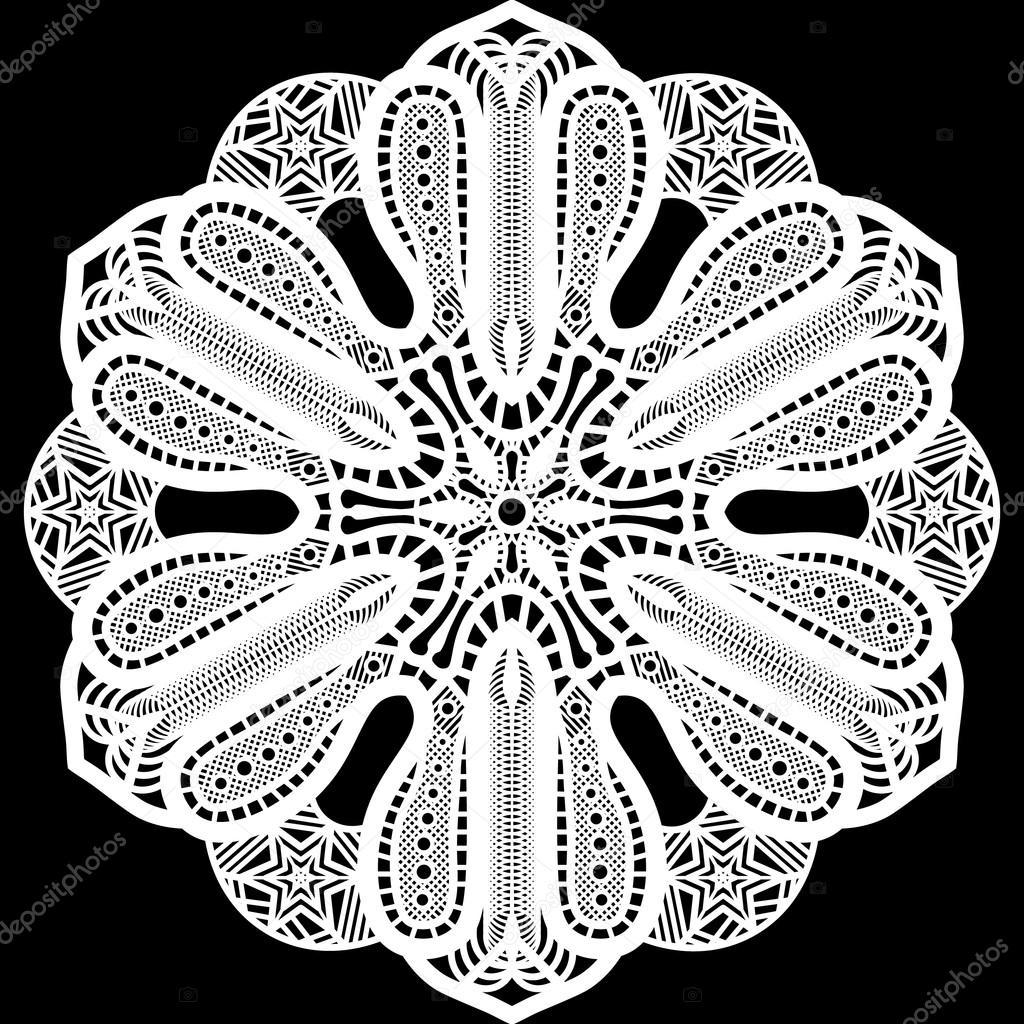 Cordón redondo tapetito de papel, lacy copo de nieve, paquete de ...