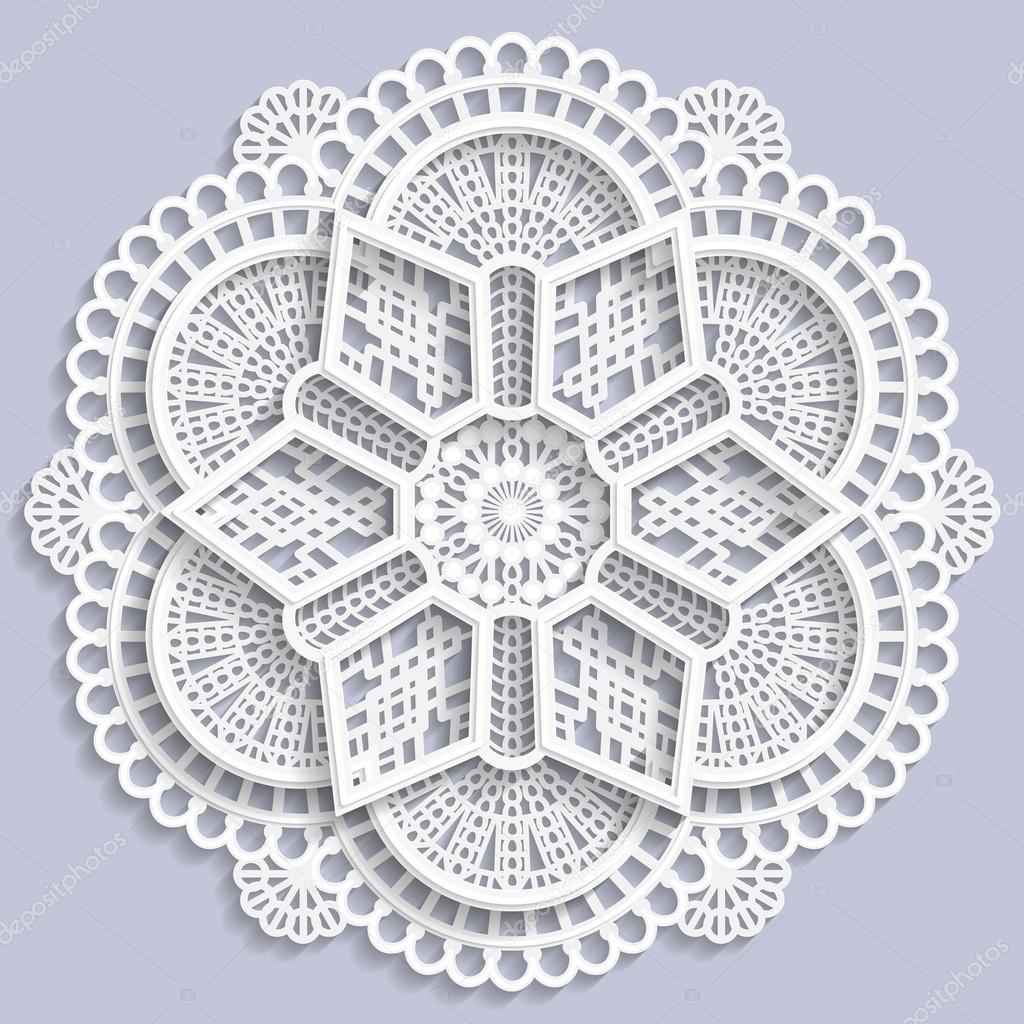 Lace Mandala Decorative Flower 3d Mandala Lace Doily Decorative