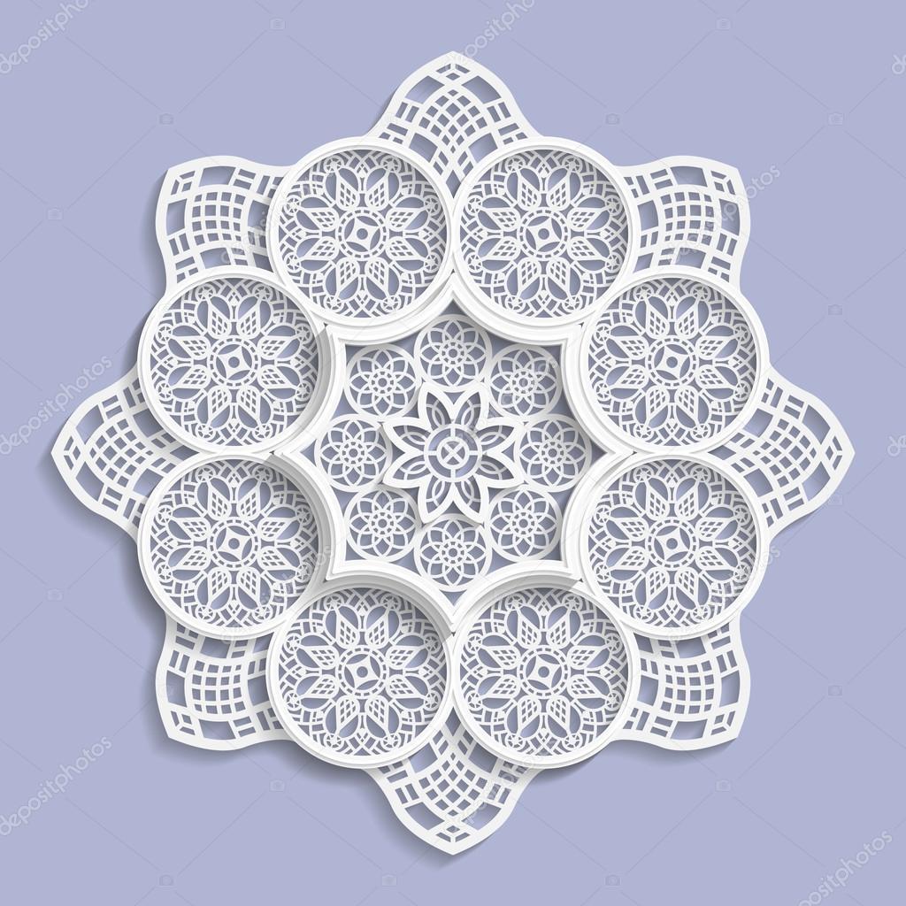 Lace 3d Mandala Decorative Flower Lace Doily Decorative Snowflake