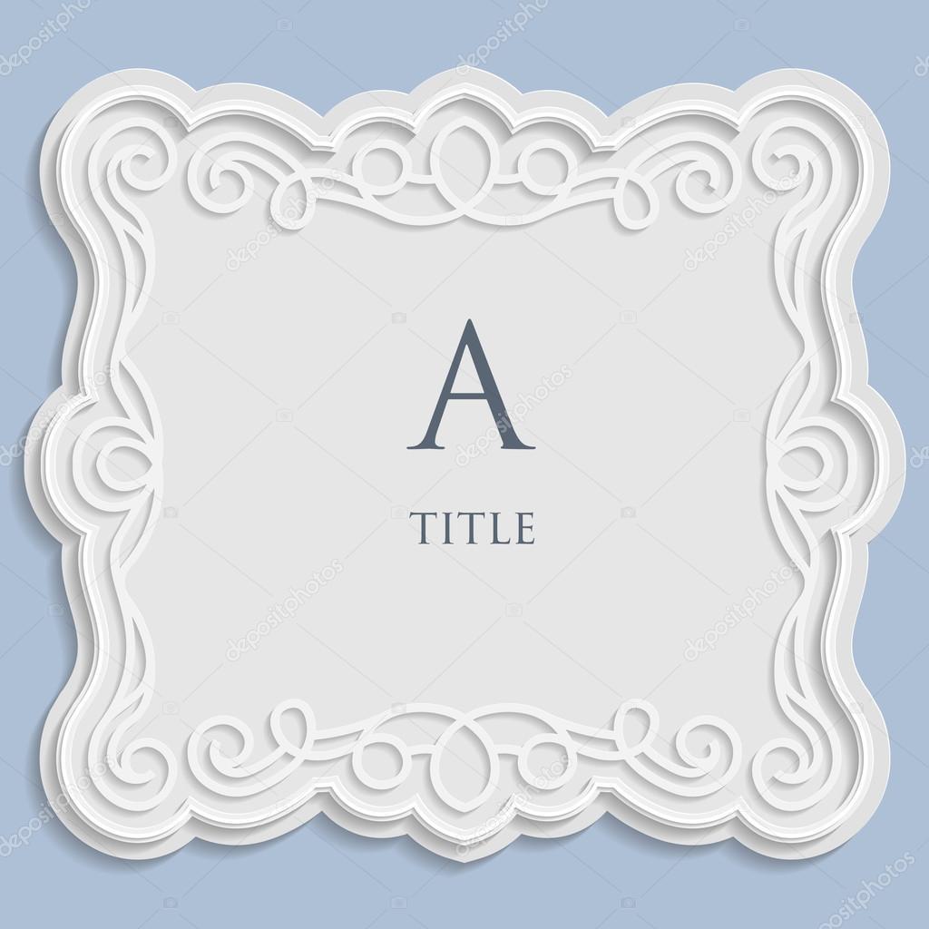 Etiqueta de Vector, vintage marco para una inscripción, Adorno ...