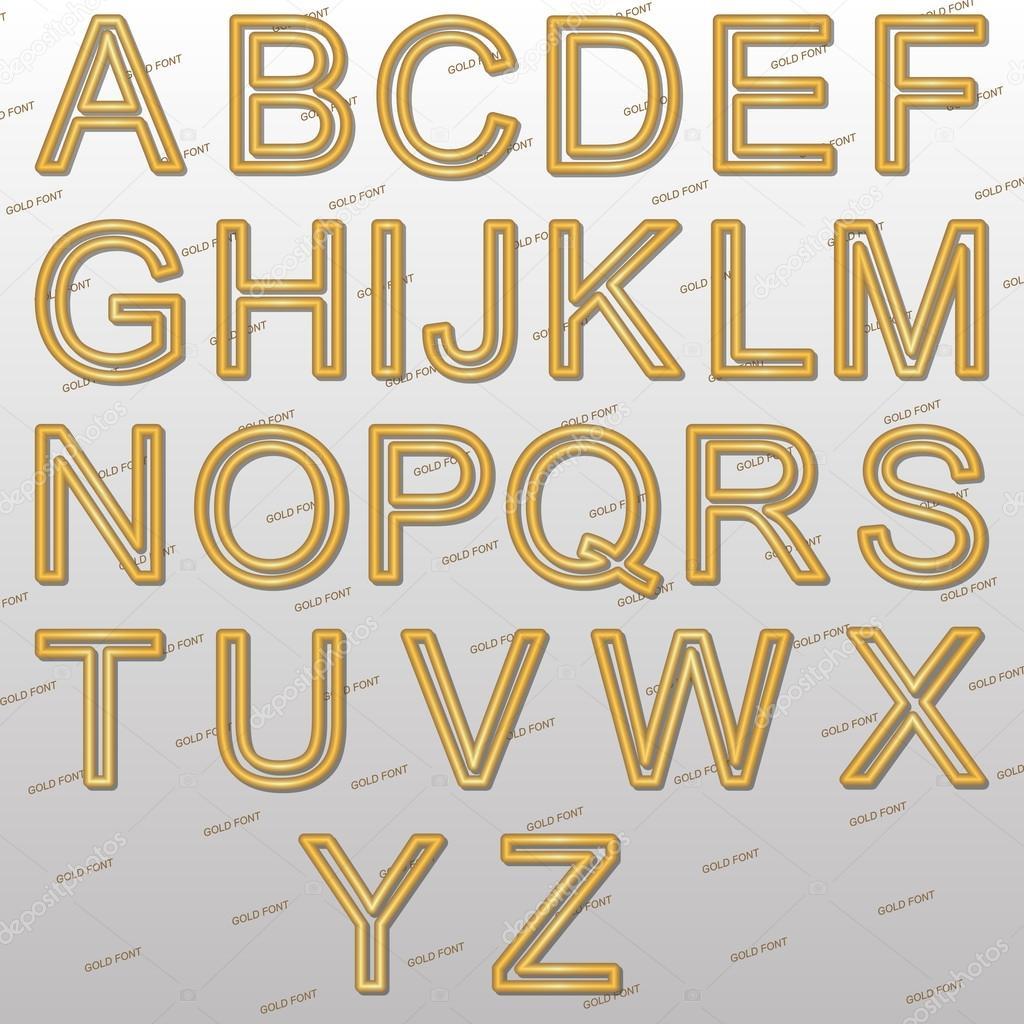 Design-Elemente - gold-Draht 3d Schriften — Stockvektor © afefelov68 ...