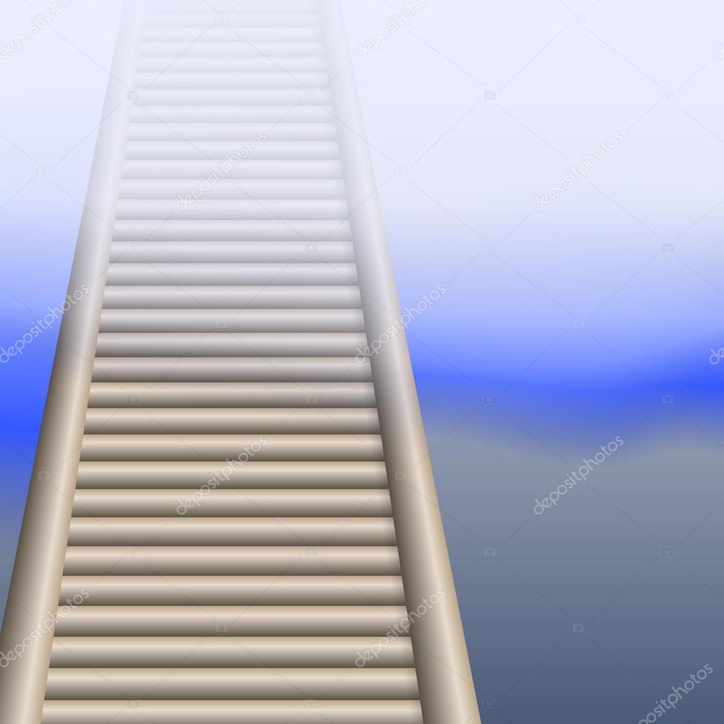 Vettore Sfondi Desktop Con Nebbia Elementi Di Disegno Il Ponte
