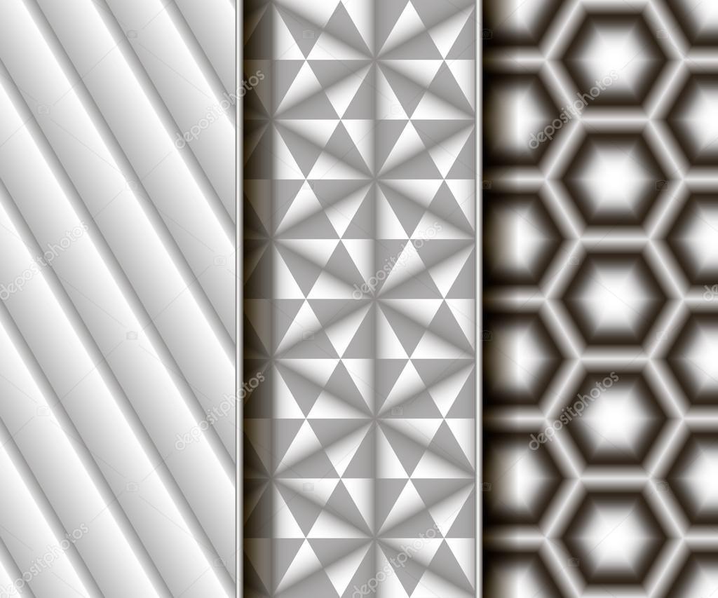 3 patrones sin fisuras de diferentes vectores — Archivo Imágenes ...