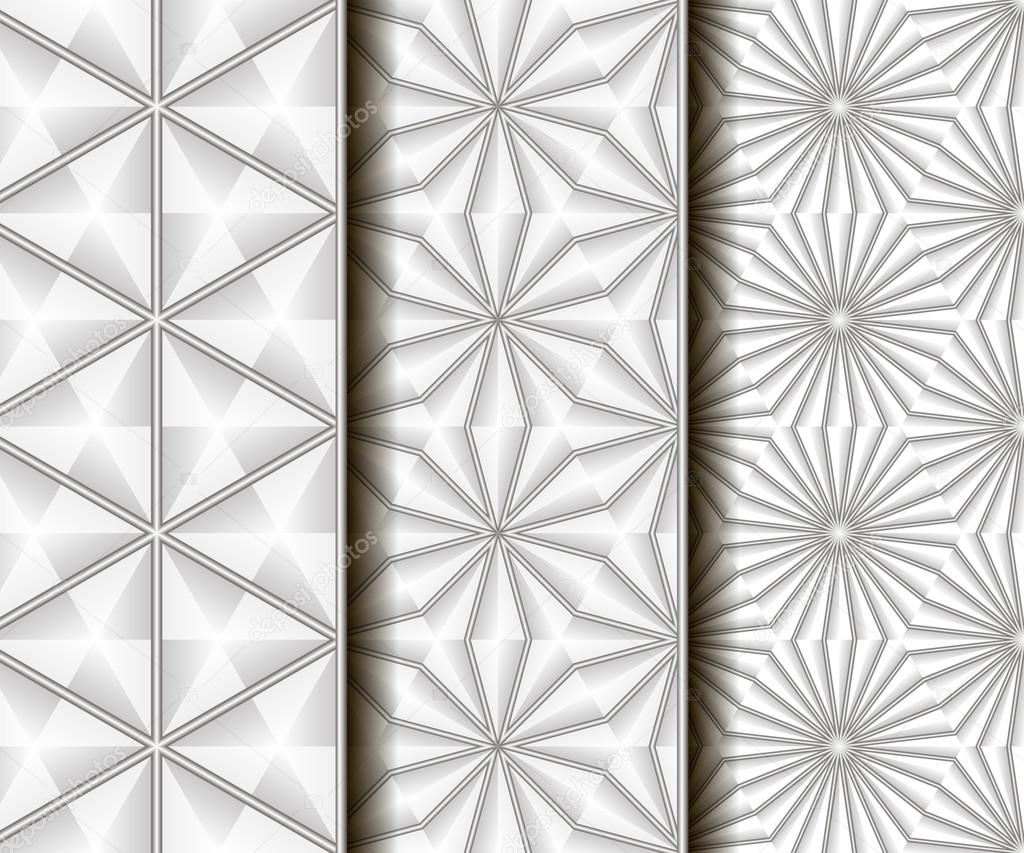 3 different vector seamless patterns. — Stock Vector © afefelov68 ...