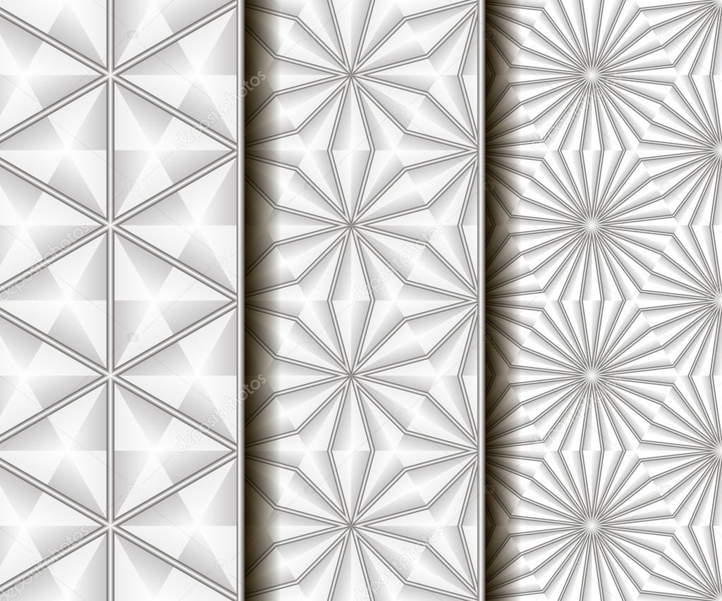 3 patrones sin fisuras de diferentes vectores — Vector de stock ...