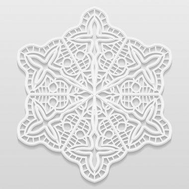 Lacy paper doily, decorative flower, decorative snowflake, mandala