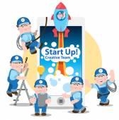 Fotografie Konzeptionell von Start-up, neue Business-Projekt
