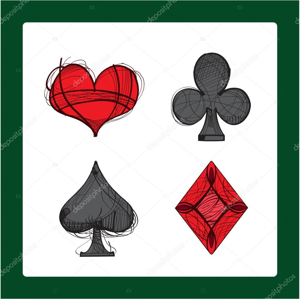 Imágenes Espadas Corazones Y Diamantes Símbolos De Naipes Los
